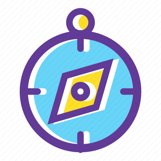 camping, camping gear, compass, guide, journey, navigation, outdoors icon