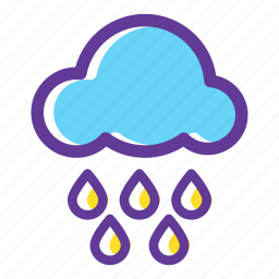 camping, cloud, nature, outdoors, rain, weather icon