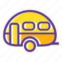 adventure, camp, camper, camping, camping gear, trailer icon