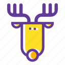 elk, camping, wild animal, nature, deer, forest, horns icon