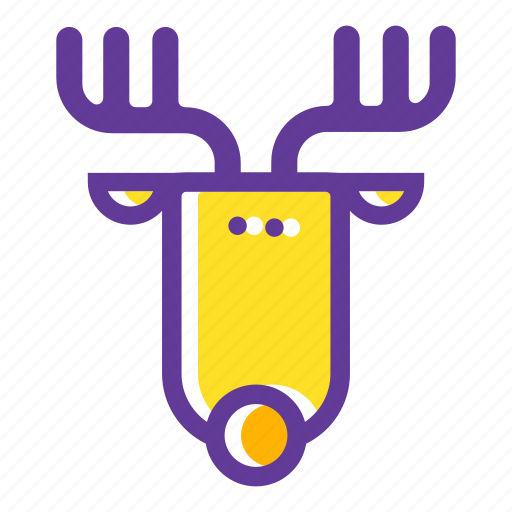 camping, deer, elk, forest, horns, nature, wild animal icon
