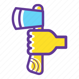 axe, blade, camp, camping, camping gear, equipment icon