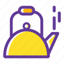 camp, camping, hot drink, nature, outdoors, teapot icon