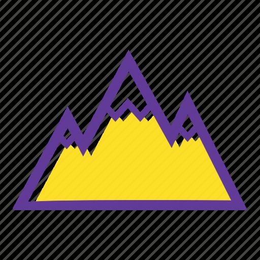 beach, camping, holidays, mountains, tour, trip icon