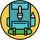 backpack, backpacker, camp, camping, rucksack, travel, traveler icon