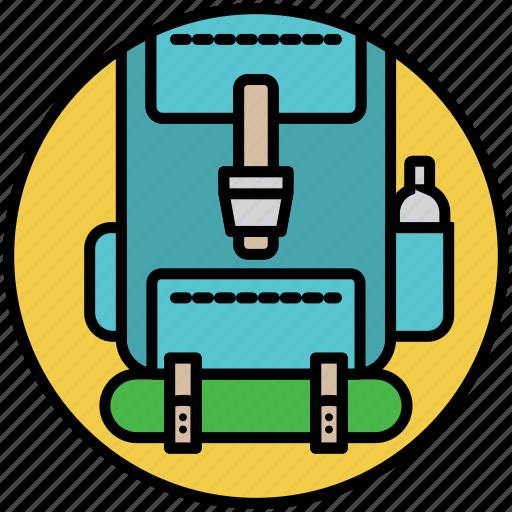 backpack, backpacker, camp, camping, rucksack, travel, traveler icon