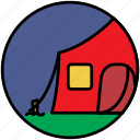 big tent, camp, camper, camping, fest, tent icon
