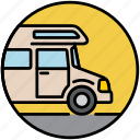 camp, camper, camping, holiday, house, house van, motorhome icon