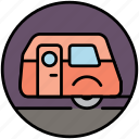 camp, camper, camping, caravan, house, travel, vacation icon