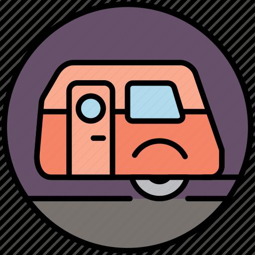 camp, camper, camping, caravan, house, travel, vacation icon