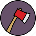ax, camp, hatchet, tree, wood, woodcutter icon