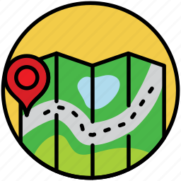 locations, map, maps, navigation, route, travel, trip icon