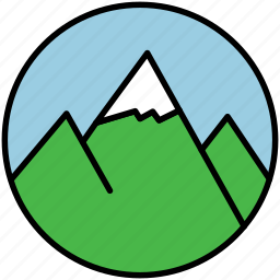 camp, hill, hills, mountain, mountains, nature, snow icon