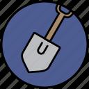 camp, dig, mine, shovel, spade icon
