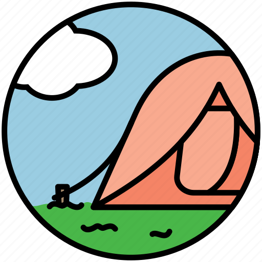 camp, camping, fest, nature, picnic, tent, travel icon