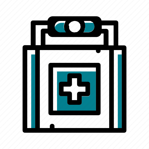camping, drug, first aid box, wound medicine icon