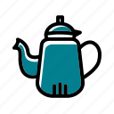 camping, coffee, tea, teapot icon