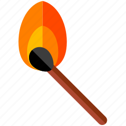 fire, match icon