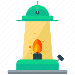 camp, camping, essentials, flame, lamp, light, outdoor icon