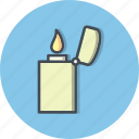burn, fire, flame, lighter icon