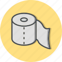 clean, toilet paper, washroom icon