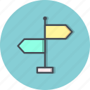 direction, navigation, way icon