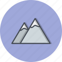 adventure, mountain, mountains, nature icon
