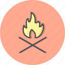 adventure, bone fire, camp fire, fire icon