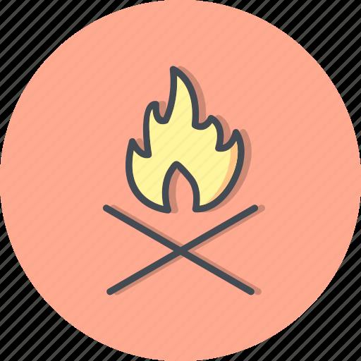 adventure, bone fire, camp fire, fire icon