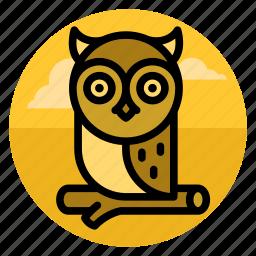 bird, education, halloween, knowledge, night, owl, scary icon