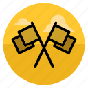 finish, flag, racing, auto, checkpoint, fin, flags icon
