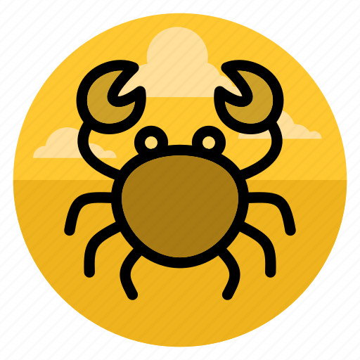 animal, beach, cancer, crab, ocean, sea, seafood icon
