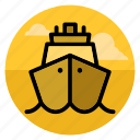 boat, cruise, sail, ship, shipping, travel, vacation icon