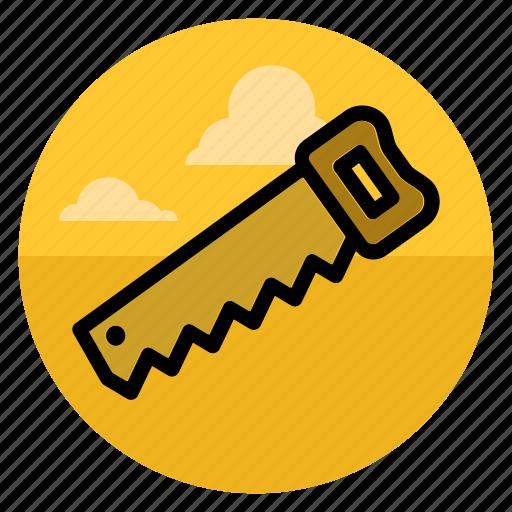 circus, nag, repair, saw, tool, wood, work icon