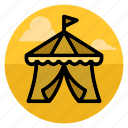 amusement park, big top, bigtop, circus, entertainment, park, tent icon