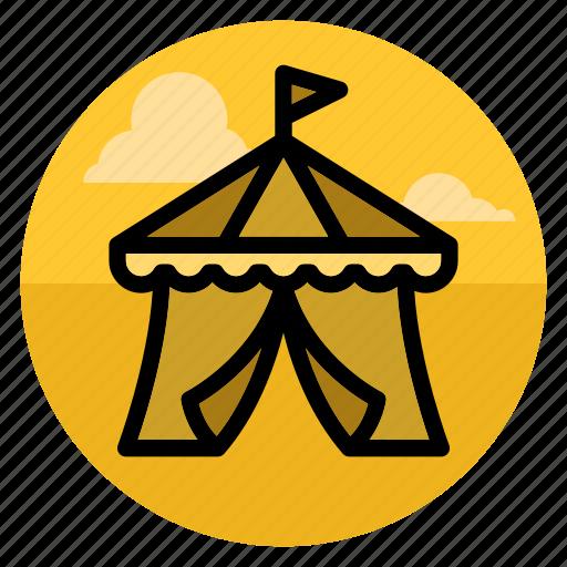 amusement park, big top, bigtop, circus, entertainment, park, tent icon
