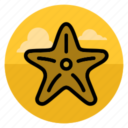 beach, fish, ocean, sea, sea star, star, starfish icon