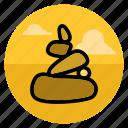 balance, meditation, rock, stone, stones, zen, hobby icon