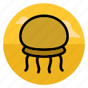 beach, jelly, jellyfish, medusa, ocean, sea, vacation icon