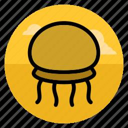 beach, jelly, jellyfish, medusa, ocean, sea, vacation icon