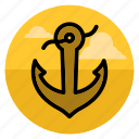 anchor, armature, boat, marine, sail, sea, ship icon