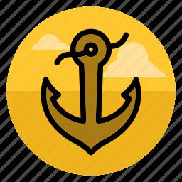 anchor, armature, boat, marine, sail, sea, ship icon