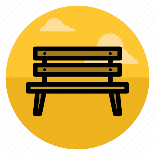bench, chair, nature, outdoor, park, seat, sit icon