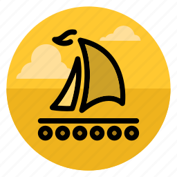 boat, camping, outdoor, raft, river, ship, travel icon