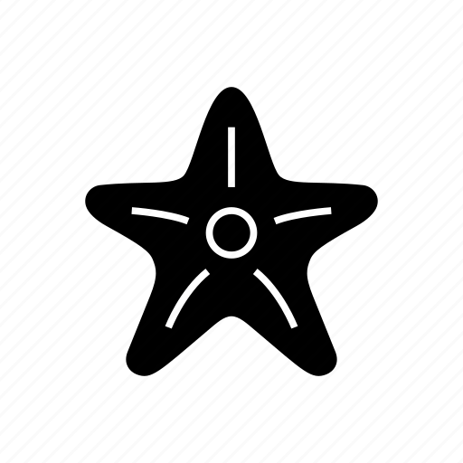 beach, ocean, sea, sea star, seastar, star, vacation icon