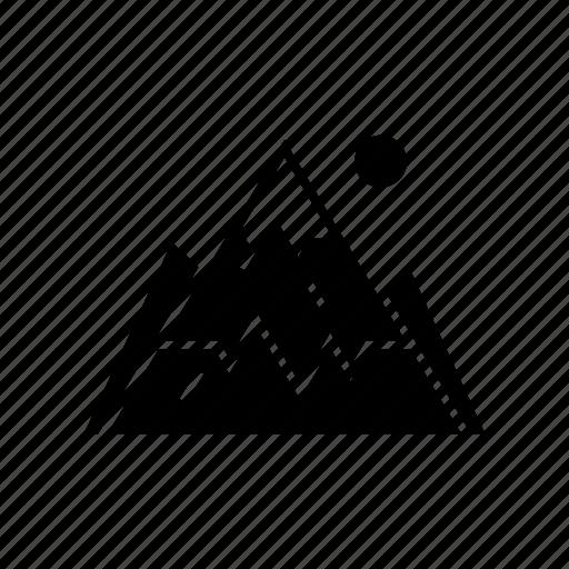 climb, climbing, fountain, landscape, mountain, mountains, picture icon