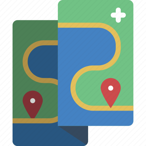 camping, leisure, map, outdoors, recreation, travel icon