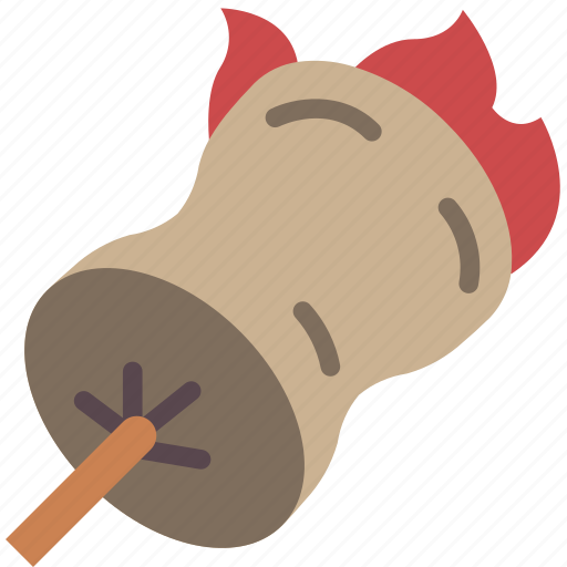 camping, leisure, marshmellow, outdoors, recreation, travel icon
