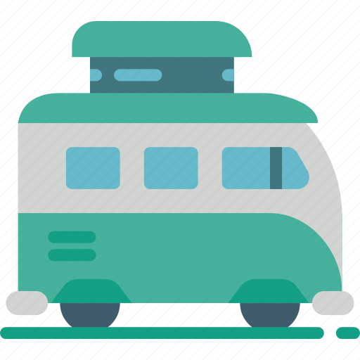 Camper, camping, leisure, outdoors, recreation, travel, van icon - Download on Iconfinder