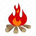 adventure, campfire, camping, holiday, outdoor, sport, wild life icon